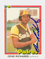 Gene Richards AUTOGRAPH 1981 Donruss #4 Padres 