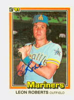 Leon Roberts AUTOGRAPH 1981 Donruss #48 Mariners 