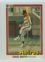 Dave Smith AUTOGRAPH d.08 1981 Donruss #23 Astros 