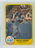 Willie Aikens AUTOGRAPH 1981 Fleer #43 Royals 