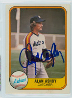 Alan Ashby AUTOGRAPH 1981 Fleer #64 Astros 