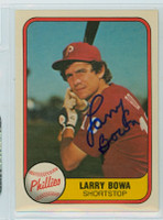 Larry Bowa AUTOGRAPH 1981 Fleer #2 Phillies 
