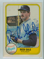 Rich Gale AUTOGRAPH 1981 Fleer #40 Royals 
