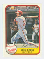 Greg Gross AUTOGRAPH 1981 Fleer #18 Phillies 
