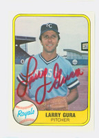 Larry Gura AUTOGRAPH 1981 Fleer #38 Royals 