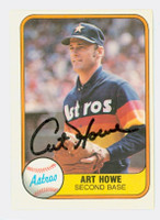 Art Howe AUTOGRAPH 1981 Fleer #51 Astros 