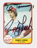 Randy Lerch AUTOGRAPH 1981 Fleer #25 Phillies 