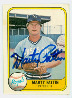 Marty Pattin AUTOGRAPH d.18 1981 Fleer #37 Royals 
