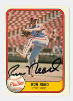 Ron Reed AUTOGRAPH 1981 Fleer #11 Phillies 