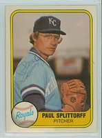 Paul Splittorff AUTOGRAPH d.11 1981 Fleer #30 Royals 