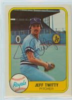 Jeff Twitty AUTOGRAPH 1981 Fleer #49 Royals 