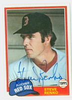 Steve Renko AUTOGRAPH 1981 Topps #63 Red Sox  [SKU:RenkS1553_T81BB]