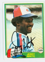 Jerry White AUTOGRAPH 1981 Topps #42 Expos 