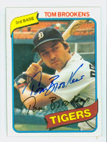 Tom Brookens AUTOGRAPH 1980 Topps #416 Tigers 