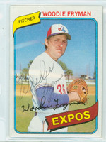 Woodie Fryman AUTOGRAPH d.11 1980 Topps #607 Expos   [SKU:FrymW1778_T80BBLE]