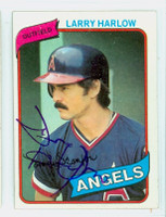 Larry Harlow AUTOGRAPH 1980 Topps #68 Angels 