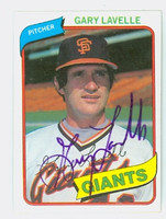 Gary Lavelle AUTOGRAPH 1980 Topps #84 Giants 