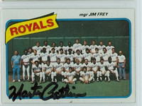 Marty Pattin AUTOGRAPH d.18 1980 Topps #66 Royals Team 