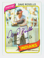 Dave Rosello AUTOGRAPH 1980 Topps #122 Indians   [SKU:RoseD6930_T80BB]