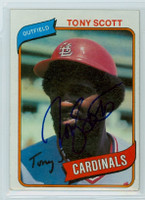 Tony Scott AUTOGRAPH 1980 Topps #33 Cardinals 