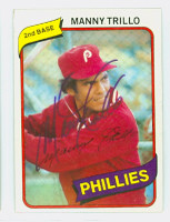 Manny Trillo AUTOGRAPH 1980 Topps #90 Phillies 