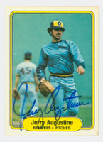 Jerry Augustine AUTOGRAPH 1982 Fleer #133 Brewers 
