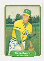 Dave Beard AUTOGRAPH 1982 Fleer #87 Athletics 