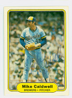 Mike Caldwell AUTOGRAPH 1982 Fleer #136 Brewers 