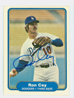 Ron Cey AUTOGRAPH 1982 Fleer #3 Dodgers 