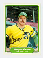 Wayne Gross AUTOGRAPH 1982 Fleer #90 Athletics 