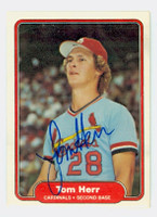 Tom Herr AUTOGRAPH 1982 Fleer #115 Cardinals 