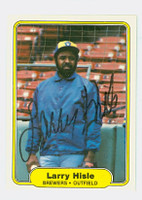 Larry Hisle AUTOGRAPH 1982 Fleer #144 Brewers 