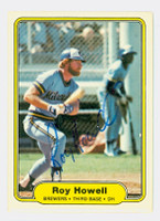 Roy Howell AUTOGRAPH 1982 Fleer #145 Brewers 