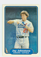 Jay Johnstone AUTOGRAPH 1982 Fleer #10 Dodgers 