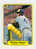Rickey Keeton AUTOGRAPH 1982 Fleer #146 Brewers 