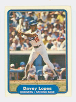 Dave Lopes AUTOGRAPH 1982 Fleer #12 Dodgers 