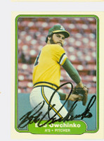 Bob Owchinko AUTOGRAPH 1982 Fleer #104 Athletics 