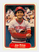 Joe Price AUTOGRAPH 1982 Fleer #81 Reds 