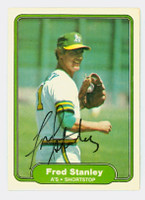 Fred Stanley AUTOGRAPH 1982 Fleer #108 Athletics 