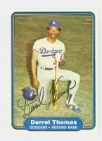 Derrel Thomas AUTOGRAPH 1982 Fleer #26 Dodgers 