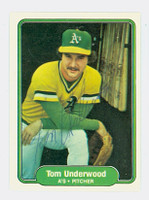 Tom Underwood AUTOGRAPH d.10 1982 Fleer #109 Athletics 