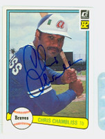 Chris Chambliss AUTOGRAPH 1982 Donruss #47 Braves 