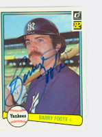 Barry Foote AUTOGRAPH 1982 Donruss #83 Yankees 