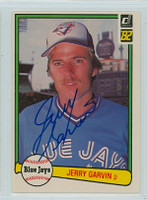 Jerry Garvin AUTOGRAPH 1982 Donruss #430 Blue Jays 