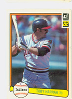 Toby Harrah AUTOGRAPH 1982 Donruss #72 Indians 