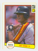 Art Howe AUTOGRAPH 1982 Donruss #92 Astros 
