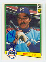 Amos Otis AUTOGRAPH 1982 Donruss #70 Royals 