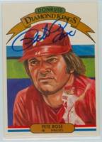 Pete Rose AUTOGRAPH 1982 Donruss #1 Phillies Diamond King 