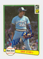 Dave Stieb AUTOGRAPH 1982 Donruss #52 Blue Jays 