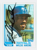 Willie Aikens AUTOGRAPH 1982 Topps #35 Royals 